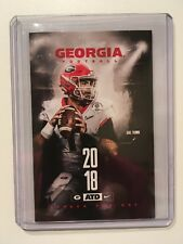 UNIVERSITY OF GEORGIA 2018 FOOTBALL POCKET SCHEDULE #11 JAKE FROMM - NEW