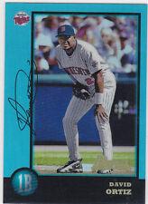 DAVID ORTIZ Big Papi RP RC Baseball ROOKIE CARD Bowman Blue Sapphire Refractor