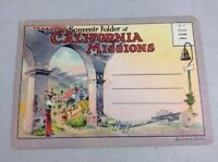 California Missions Vintage Early 1900s Color Postcard Souvenir Book Unposted