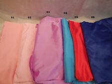 Poliestere Morbido Vestito raso fodera tessuto 150cm largo. Al Metri Vari colori