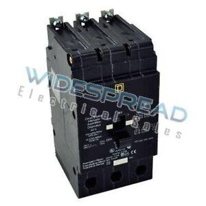 EDB34100 Square D EDB Series Molded Case Circuit Breaker 3p 480v 100a 18kA@48...