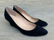 Cole Haan Women's Grand OS  Black Suede Wedge Pumps, Size 10 B