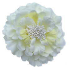 Large Flower Peony Hair Clips Grips. Wedding Bridal Bridesmaid Prom Festival