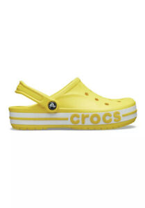 Crocs Bayaband Clogs Lemon Yellow Sandals Water Shoes SlipOns Size M4/W6 New