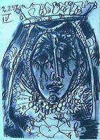 Picasso Toros Y Toreros 1961 B&W Paint Lithograph Print Princess Limited Edition