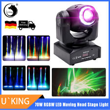 U`King Bühnenlicht 70W Gobo Pinspot Moving Head LED RGBW DMX Party Disco Stage