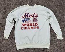 Vintage 1986 New York Mets World Series Champions MLB Crewneck Sweatshirt Large