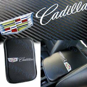 For NEW CADILLAC Carbon Fiber Car Center Console Armrest Cushion Pad Cover 1PCS