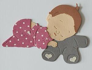 Stanzteil Baby süß Basteln Scrapbooking Karten Herstellung Aufleger