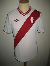 Peru FPF home football shirt soccer jersey maillot trikot camiseta size S