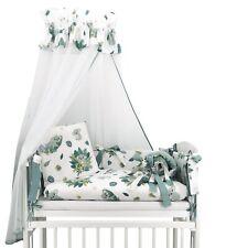 Baby 6-teilig Garnitur Bettwäsche 90x40 Nestchen Beistellbett Himmel Tropical