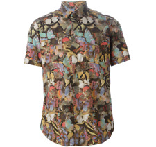 Authentic Valentino Butterfly Camouflage Shirt Size 41 Medium - Large