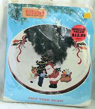 "Titan Felt Tree Skirt Kit Jolly St. Nick 04043 Santa Claus Christmas Tree 36"""