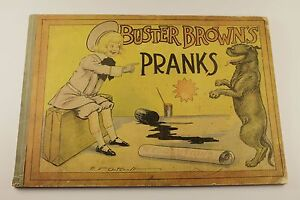 Buster Brown Pranks 1905 VG-  R. F. Outcault, Rare Platinum-Age Book!