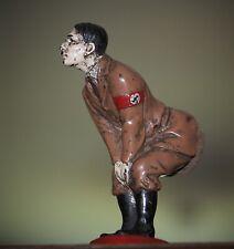 RARE 1940'S PAINTED BRONZE ADOLPH HITLER WW II , PIN CUSHION