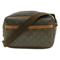 LOUIS VUITTON Monogram Reporter PM Shoulder Bag N45253 LV Auth 15732