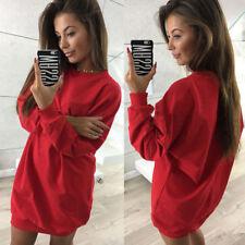 Women Ladies Casual Sweatshirt Long Sleeve Sweater Hoodie Jumper Winter Dress
