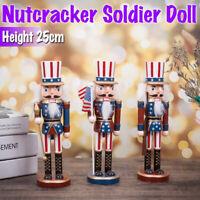 Wooden Nutcracker Soldier Vintage Handcraft Puppet Doll Christmas Xmas Gift  RF5