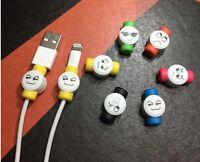 Protecteur Tous Type De Cable Usb pour iPhone Samsung écouteur Avec Motif smiley