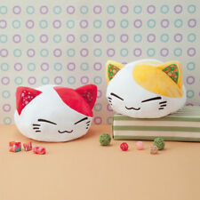 Nemuneko Japanese Pattern Plush FuRyu White Cat Orange Ears Cat Stuffed NWT