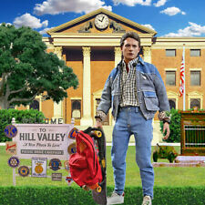 """1/6 BTTF Backdrop 15""""x15"""" - Ideal for Hot Toy Marty Mcfly Emmett Back To Future"""