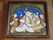 TANJORE PAINTING 19th c. INDIA BALA KRISHNA Thanjavur TAMIL NADU ORIENTAL INDE