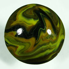 "Marbles Jabo Inc. 2003 1"" run Jumbo Double ingot Turtle. 1-13/64"". A bit rough"