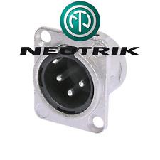 Fiche XLR Mâle 3 Broches Norme D NEUTRIK NC3MDL1 Connections à Souder
