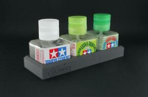 Ultimate Glue Bottle Triple Holder (for Tamiya)
