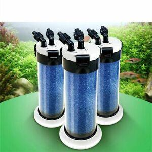 External Aquarium Filter Canister Sponge Fish Tank Water Pump Pond Filtration
