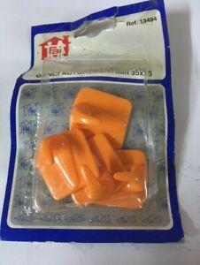 4 Crochet Adesivo Salle de Bain MM 35x35 Doubles Cintres Portemanteau Orange