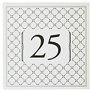 """Table Numbers Cards 25-36 """"Diamonds"""" Double Sided Laminated 5""""x5"""" Banquet Party"""