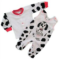 BNWT Baby Infant Toddler Girls/Boys Outfit Set Playsuit & Popper 100%25 Cotton