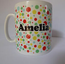 Polka Dots Spots Personalised Any Name Text Message Gift Mug Cup Spotty Dotty