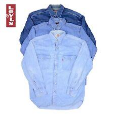 Vintage Mens Levi Strauss Long Sleeved Denim Shirts XS, S, M, L, XL, XXL
