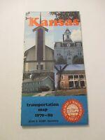 Vintage KANSAS TOURIST State Gas Service Station Road Map