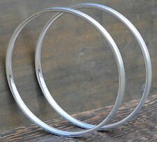 "Polished 29"" 36h Velocity Blunt 35 Bicycle Rims 28"" Antique Wood Wheel Bike Cad"
