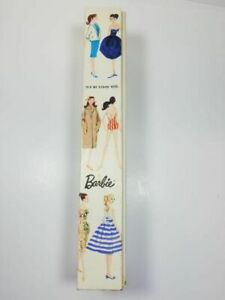 Vintage White Ginger Bubble Cut Barbie Box only