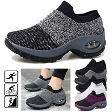 Women Air Cushion Walking Running Sport Sock Sneakers Mesh Slip On Casual Shoes