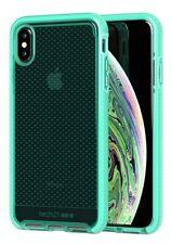 tech21 EVO Check Protective Phone Case Cover for Apple iPhone XS Max Neon Aqua