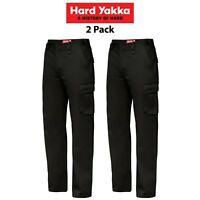 Mens Hard Yakka Cargo Pants 2 Pack Generation Y Cotton Drill Cotton Work Y02500