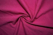 Fuchsia Cotton Lycra Spandex Jersey Knit Stretch Sewing Apparel Fabric BTY