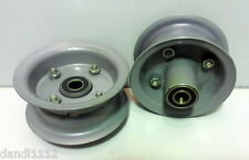 "(2) 4.10/3.50-4 Hand Truck Air Tire Rim Offset Split Hub 5/8"" ID Bearing"