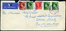 Gb Airmail 1937 Kg5 + Ke8 to Switzerland.London Purple Cancels