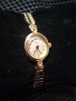Women's Petit TIMEX Gold-Tone Watch Analog w/ Stretch Band & Fresh Battery!