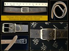 Vintage Ultra RARE LOUIS VUITTON Monogram Belt | Size 26 | Small