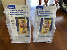 2 Rogers Tri-Fold Paper/Brochure Literature Holders Holds Up To 4�(Countertop)