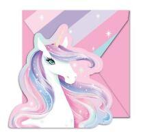 Girls Birthday Party Supplies Unicorn Invites With Envelopes 8pk Invitation