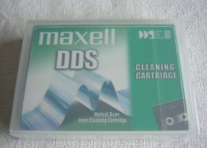 1 x Maxell DDS / DAT Cleaning Tape - New and Sealed