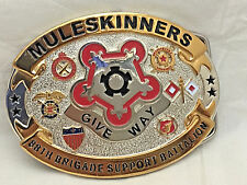 88th Brigade Muleskinners Army Solid Brass Belt Buckle Last One!